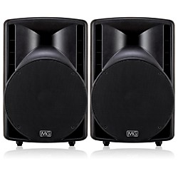 "Musician's Gear MG115A 15"" 2-Way Powered Speaker (Pair) (MG115A KIT)"