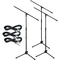 Musician's Gear Tripod Mic Stand with 20-Foot Mic Cable (3-Pack) (MS220-LoZ 3-Pack)