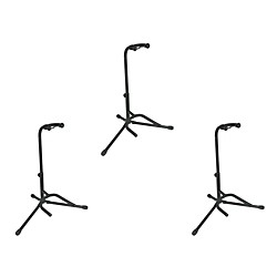 Musician's Gear Tubular Guitar Stand Regular Black 3-PACK (MGTGS-3PACK)