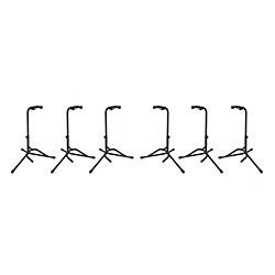 Musician's Gear Tubular Guitar Stand Regular Black 6-Pack (MGTGS-SIXPACK)