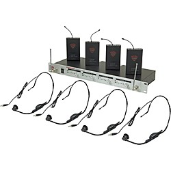 Nady U-41 Quad HM1 Headset Wireless System (14/16/10/12) (USED004001 6017-14)