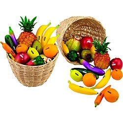 Nino 36-Piece Fruit and Vegetable Shakers in Basket (VE36-NINO536)