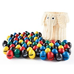 Nino 80-Piece Egg Shaker Assortment with Elephant Basket (VE80-NINO540)