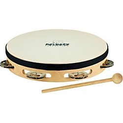 Nino Headed Wood Tambourine w/Single Row of Chimes (NINO47)