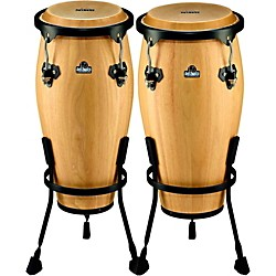 Nino NINO910 Wood Conga Set with Stands (NINO89NT)