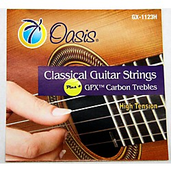 Oasis GPX+ Classical Guitar Carbon Trebles High Tension (GX-1123 HT)