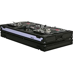 "Odyssey FFXBM10WBL DJ Coffin For Two Turntables and 10"" Wide Mixer (FFXBM10WBL)"