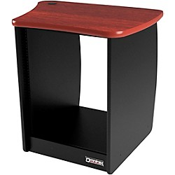 Omnirax OM13R 13-Space Rack Cabinet for the Right Side of the OmniDesk - Mahogany (OM13R-MF)