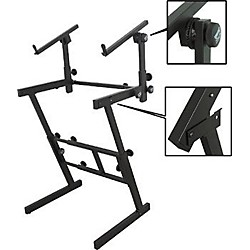 On-Stage Stands Folding Heavy-Duty Dual-Tier Z Stand (KS7365-EJ)