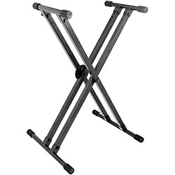 On-Stage Stands Heavy-Duty Deluxe X ERGO-LOK Keyboard Stand (29984)