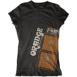 Orange Amplifiers Ladies Stack T-Shirt (MC-T-SHIRT-STACK-BLK-LDY-)