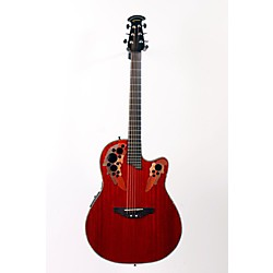 Ovation Celebrity Deluxe Super Shallow Padauk Acoustic-Electric Guitar (USED005032 CC48-PD)