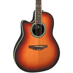Ovation Celebrity Standard Left-Handed Acoustic-Electric Guitar (LCC047-HBLH)