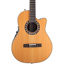 Ovation Elite AX Mid-Depth Cutaway Acoustic-Electric Nylon String Guitar (1773AX-4)