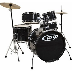 PDP Player 5-Piece Junior Drum Set with Cymbals and Throne (PDJR18KTCB)