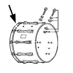 Pearl Competitor Series Bass Drum Hoops (RIM22CB)