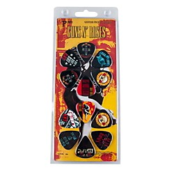 Perri's 12 Pack Of Guns N Roses Guitar Picks - Med Gauge - Celluloid Plastic (LP12-GR1)