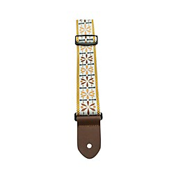 "Perri's 2"" Polyester with Jaquard Design - Yellow, Tan & White Guitar Strap (LPCP-BM1)"