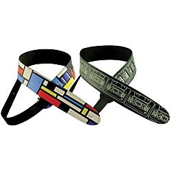 "Perri's Adjustable 2"" Vinyl Guitar Strap with Original Henry Heller Printed Design (P20HH-01)"