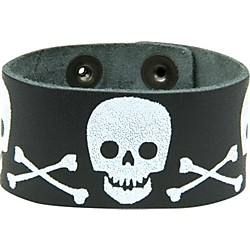 Perri's Leather Bracelet with Screened Skulls (443)