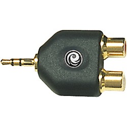 "Planet Waves 1/8"" Stereo Male to Twin RCA Female Adapter (PW-P047C)"