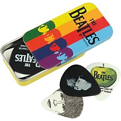 Planet Waves Beatles Stripes Pick Tin - 15 Medium Picks (1CAB4-15BT2)