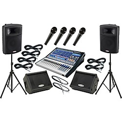 Presonus Studiolive 16.0.2 / Harbinger APS15 Mains and Monitors Package (SL1602APS15MM)