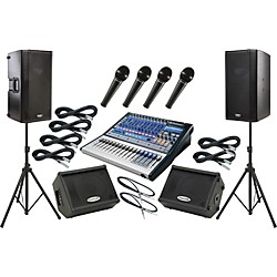 Presonus Studiolive 16.0.2 / QSC K12 Mains and Monitors Package (SL1602K12MM)