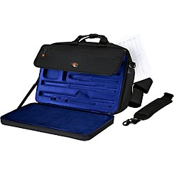 Protec LUX Flute and Piccolo Case with Sheet Music Messenger Bag (LX308PICC)