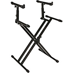 Quik-Lok Double-Tier Double-Braced Keyboard Stand (AMS-QL-742)