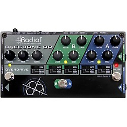 Radial Engineering Bassbone OD Bass Preamp With Overdrive (R800 7072)