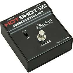 Radial Engineering HotShot DM1 Microphone Signal Muting Footswitch (USED004000 R800 1700)