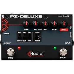 Radial Engineering PZ-Deluxe Acoustic Preamp / Direct Box Guitar Pedal (R800 7320 00)