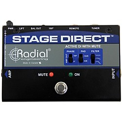 Radial Engineering StageDirect Active DI Box w/ Footswitch Mute and Tuner Out (R800 1170 00)