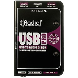 Radial Engineering USB-Pro Stereo USB Laptop DI (R800 1050)