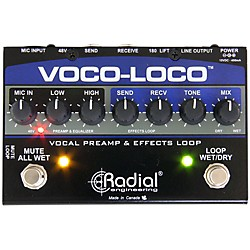 Radial Engineering Voco-Loco Vocal Preamp and Effect Switcher (R800 1425 00)