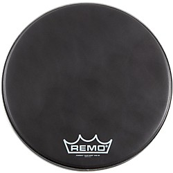 Remo Black Suede PowerMax Series Bass Drumhead with Crimplock (PM-1814-MP)