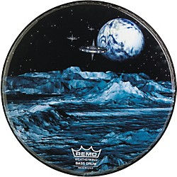 Remo Custom Graphic Blue Moon Resonant Bass Drum Head (PA-1020-BM)