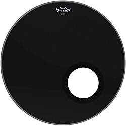 "Remo Ebony Powerstroke 3 Bass Drum Head with 5"" Port Hole (P3-1022-ES-DM-)"