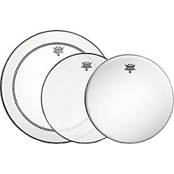 Remo Gig Drumhead Pack With Free Ambassador Snare Side Head (PP-0690-BA-)