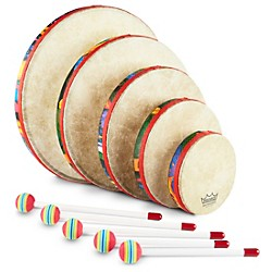 Remo Kid's Percussion Rain forest Hand Drum Set (KD-0500-01-)
