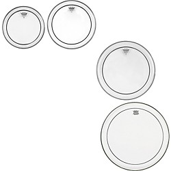 Remo Pinstripe Clear 4-piece Tom Drumhead Pack (PP-1130-PS-)