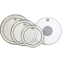 Remo Pinstripe Value Pack with Emperor X Coated Snare Head (PP-0680-PS-)