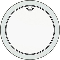 Remo Powerstroke 3 Clear Bass Drumhead with White Impact Patch (P3-1318-C2)