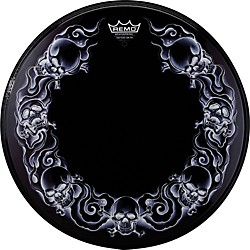 Remo Powerstroke Tattoo Skyn Bass Drumhead, Black (PA-1322-TT-T03)