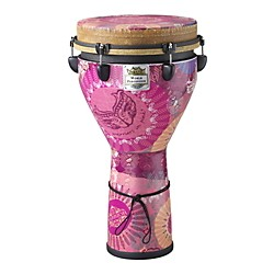Remo Warriors in Pink Mondo Designer Series Key-Tuned Djembe (DJ-0012-38-)