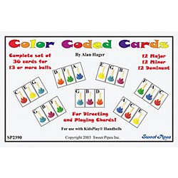 Rhythm Band Color Coded Handbell Cards/36 Chords (SP2390)