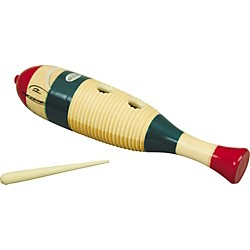 Rhythm Band Traditional Wood Guiro With Scratcher (RB1211)