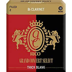 Rico Grand Concert Select Thick Blank Bb Clarinet Reeds (RGT10BCL200)