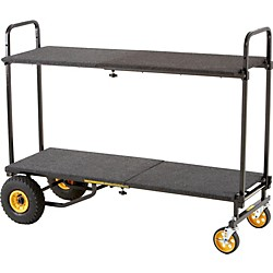 Rock N Roller R10RT 8-in-1 Max Multi-Cart With Deck and Shelf (R10DECKSHELF)